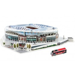 Nanostad 3D puzzle fotbalový stadion UK Emirates Arsenal 108 ks